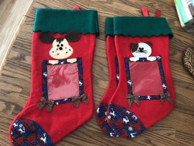 Dog/cat picture stockings for your pets