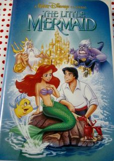 """VHS Disney Movie """"The Little Mermaid"""" w/Banned Cover!"""