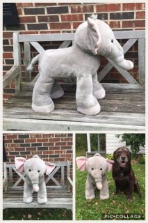 Plush Elephant Stool/Seat for toddlers GUC, shown with my lab for size **READ PICK-UP DETAILS BELOW