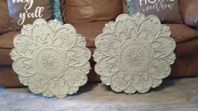"""Big wall decor. 27"""" In diameter $30 for both"""