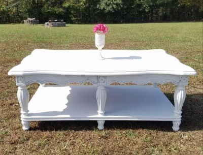 COUNTRY WHITE FARMSTYLE COFFEE TABLE