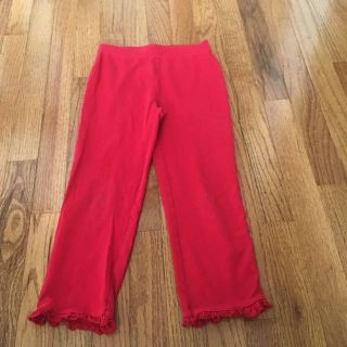 Red cotton pants- girls 6