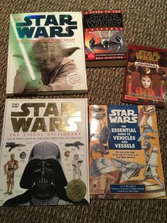 5 Star Wars books-new condition