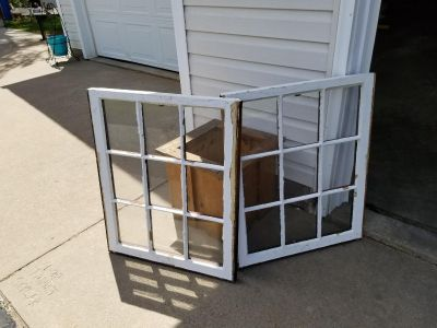 2 old windows. Great for pinterest projects.