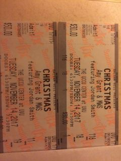 Tickets for an Amy Grant/Jordan Smith concert