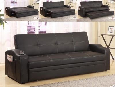 $319, Adjustable Sofa Futon The Easton Makes Into A King Bed