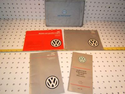 Find VW JETTA 1987 owner manual's 4 BOOKLET with grey VW POUCH, VW JETTA, 1 set of 4 motorcycle in Rocklin, California, United States, for US $62.00