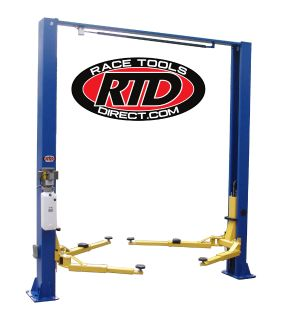 RACE TOOLS DIRECT 9,000 LB. CAPACITY, OVERHEAD 2 POST LIFT