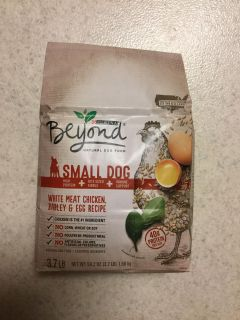 Purina Beyond natural dog food for small dogs