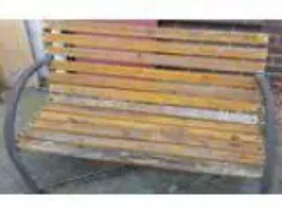 Garden Bench Needs Paint