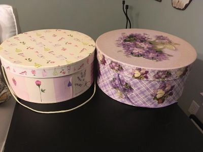 FOUR homeGoods storage boxes