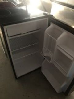 small stainless steel refrigerator