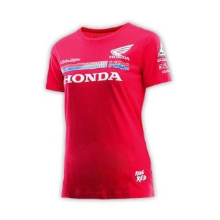 Find Troy Lee Designs 2016 Honda Team Womens Short Sleeve T-Shirt Red/White motorcycle in Holland, Michigan, United States, for US $31.66