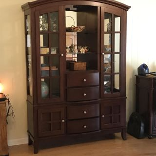 Dining Set-includes table, 6 chairs, and China cabinet