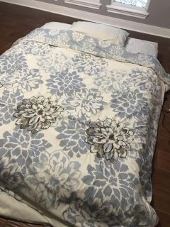 Queen-sized mattress and box spring