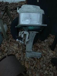 Old 4 cylinder 40 horse mercury, hydroplane motor