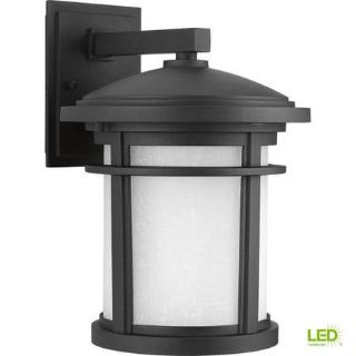 Outdoor Textured Black LED Wall Lantern - New!