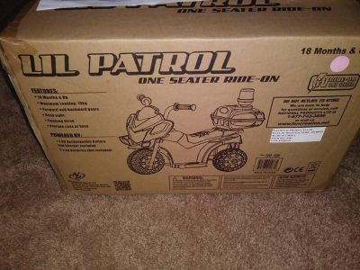 NIB Little Patrol Ride On Child 10 months and Up