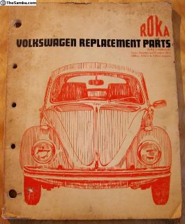 1969 ROKA Beetle and Ghia Parts Catalog