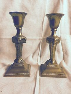 Ram Art Deco Candlesticks