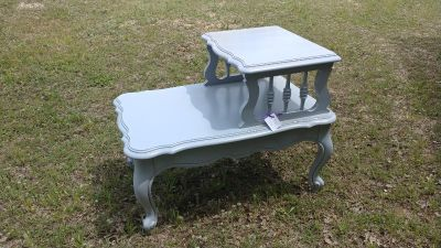 Vintage Gray Painted Side Table