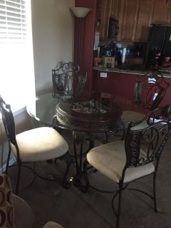 Dining Room Table and Chairs with Bakers Rake