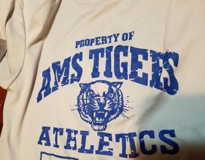 AMS Adult Small Gray Dri Fit Shirt Atascocita Middle School Girls Boys Unisex 7th 8th Grade Spor...