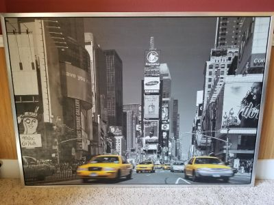New York Times Square frames canvas