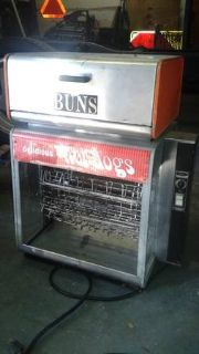 Star Commercial Rotisserie Delicious Hot Dogs Machine With Bun Warmer