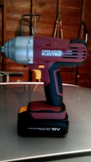 """Chicago Electric 1/2"""" Cordless Impact Wrench"""