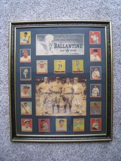 Vintage Framed Baseball Collectible