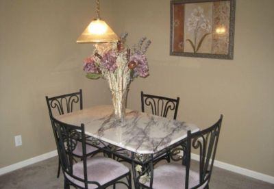 Cast iron and marble dinning table