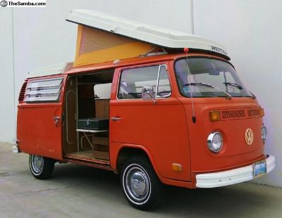 1973 Westfalia Pop-Top Camper Bus