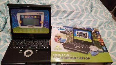 Brand new Discovery Kids Teach and talk Exploration Laptop, uses batteries