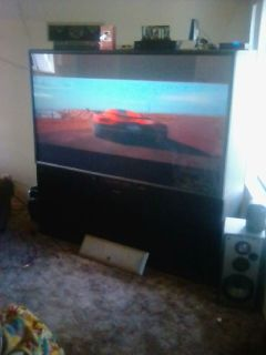 Mitsubishi 92in rear projecson 1080 hd tv