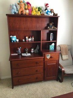 """Pine Dresser w/matching bookcase and bed"""