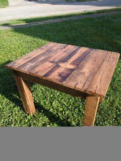Barn wood table