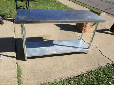 "24"" X 60"" Work Table w/ Undershelf RTR#7103561-06"