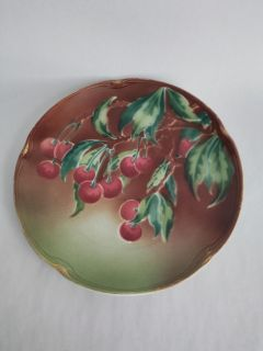 Antique French Cherry plate. Decorative plate