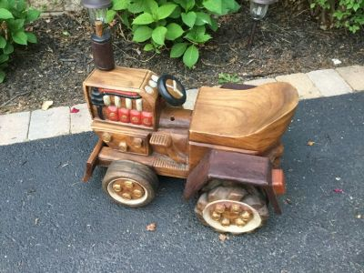 Handcarved Wooden Tractor