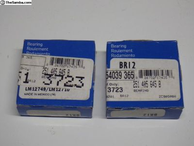 Pair SKF Outer Front Vanagon Bearings 251405645B