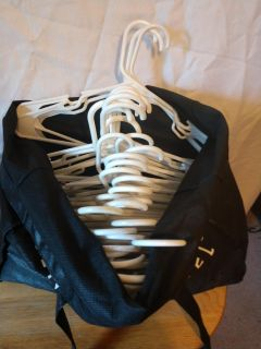 Assorted plastic hangers(approximately 40)