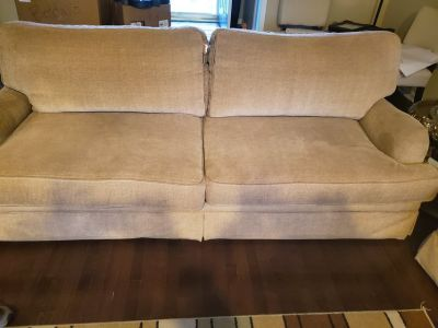 Heavy, well constructed Sofa and Love Seat