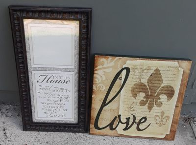 $5 Firm for both wall decor