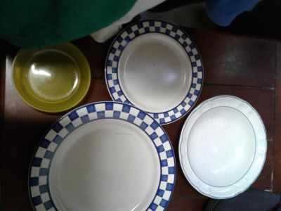 Plates, bowls, glasses all for $1