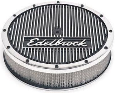 "Sell Edelbrock 42074 Elite 14"" Round EnduraShine Air Cleaner motorcycle in Suitland, Maryland, US, for US $163.83"