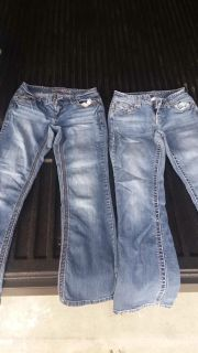 Sz 3/4 SHORT maurices flaired jeans