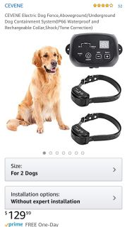 2 dog electronic fence collar