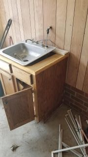 Utility sink and cabinet