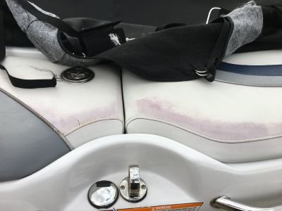 Remove Marine vinyl pinking with Pink Away Solution